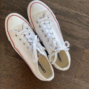 White Converse Size US 9/ EU40